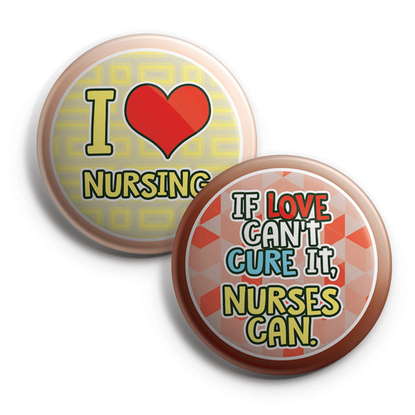 "Nurses Rocks Pinback Button Pins (10-Pack) - Large 2.25"" Frontliner Nurse, Doctor, Medical Designs Pins Badge"