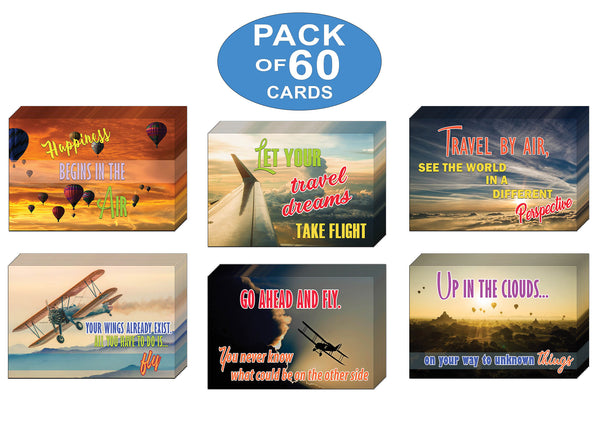 Creanoso Air Travel Adventures Sayings Postcards – Great Giveaways for Travelers