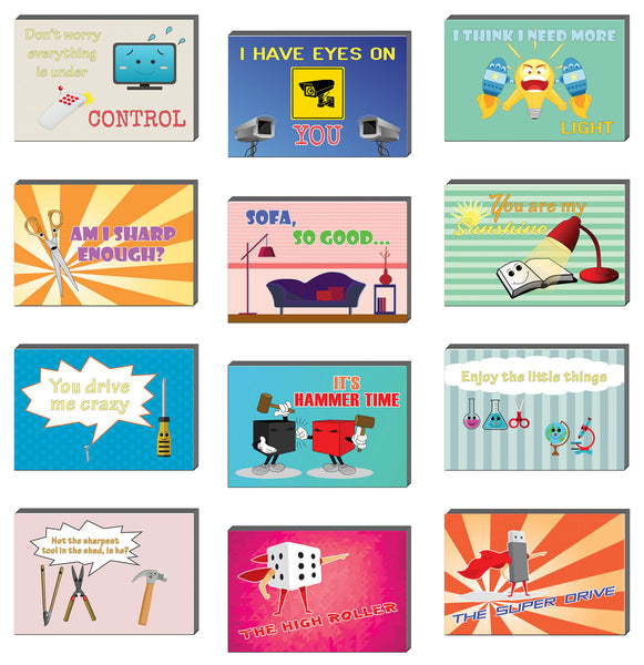 Creanoso Comedic Things Funny Postcards – Great Giveaways Note Cards