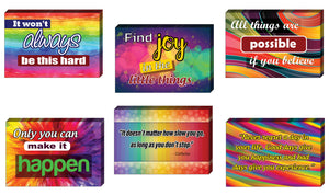 Colorful Uplifting Positive Postcards (60- Pack) - Cool Student Giveaways - Stocking Stuffers Gift for Teachers, Educators, Students