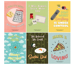 Creanoso Inspiring Puns Home Posters (24-Pack) - Premium Quality Gift Ideas for Children, Teens, & Adults for All Occasions - Stocking Stuffers Party Favor & Giveaways