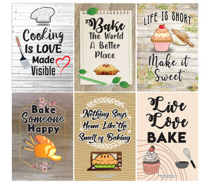 Kitchen Baking Posters (24-Pack)