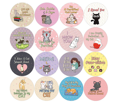 Creanoso Cat Lovers Stickers (20-Sheet) – Sticker Card Giveaways for Kids – Awesome Stocking Stuffers Gifts for Boys & Girls – Classroom Home Rewards Enticements