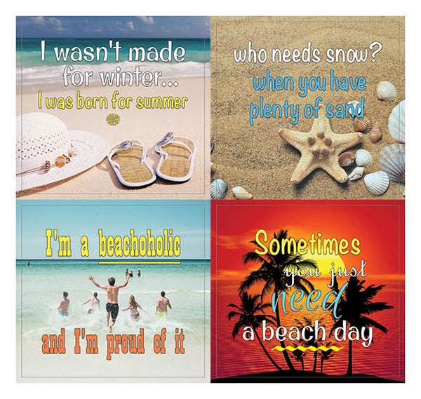 Creanoso Humor and Fun Beach Stickers (10-Sheet) – Funny and Inspiring Beach Travel Stickers