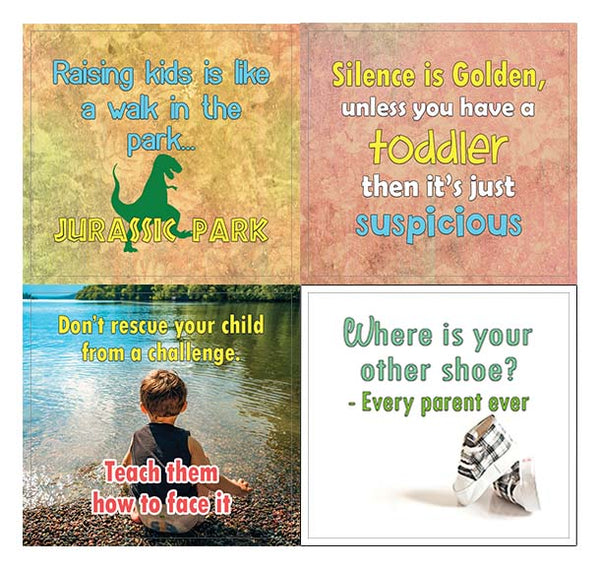Creanoso Funny and Inspiring Parenting Quotes Stickers (10-Sheet) – Inspirational Parenting Gift