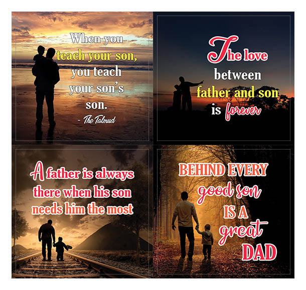 Creanoso Father and Son Sayings Quote Stickers (10-Sheet) – Inspirational  Father & Son Gifts
