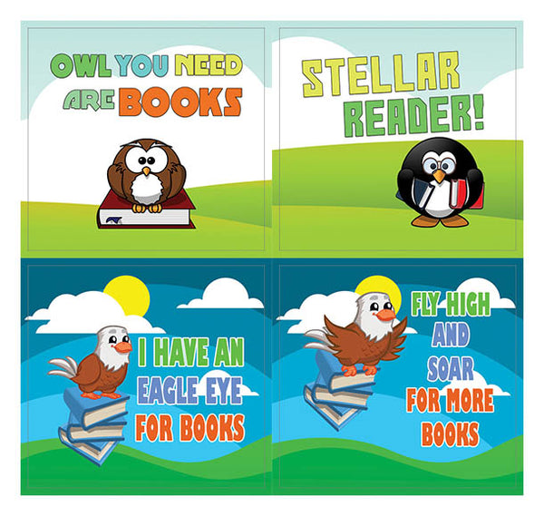 Copy of Creanoso Bird Animals Cute Sayings Stickers – Gift Reading Giveaways for Kids