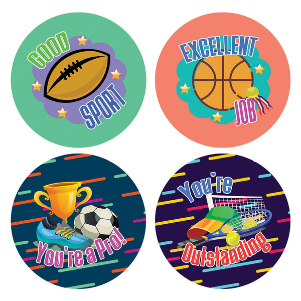 Creanoso Sports Accomplishment Merit Stickers – Gift Giveaways Stickers for Kids