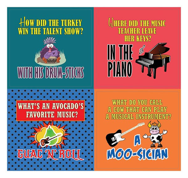Creanoso Funny Music Puns Jokes Stickers - Awesome Stocking Stuffers Gifts for Music Lovers (5-Sheet)