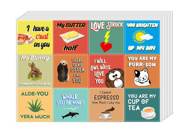 Creanoso Love Puns Stickers  - Premium Giveaways Sticky Note Cards
