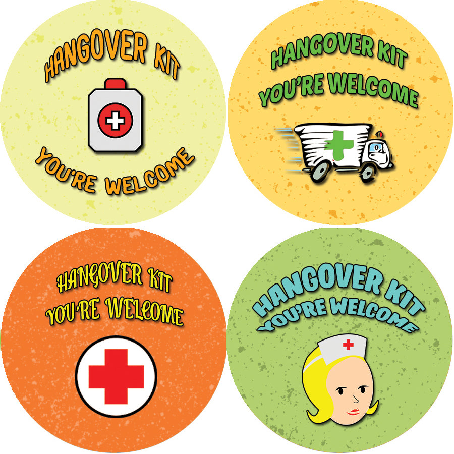 - Party Favour Labels Creanoso Hangover Kit Wedding Stickers and Labels Bridal Survival Kit Hangover kit Labels 10-Sheet