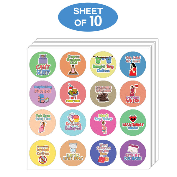 Creanoso Funny Stickers Series 3 - Pregnancy Rewards - Humorus Party Favors Sticky Cards Pack
