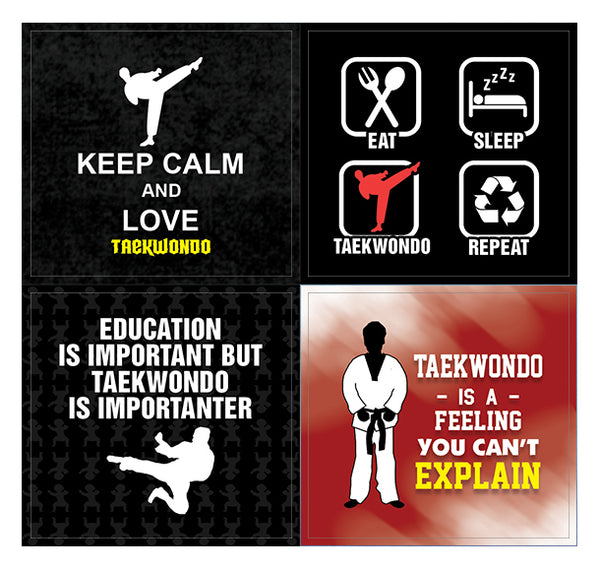 Creanoso Taekwondo Stickers – Humorous Gift Token Giveaways Set