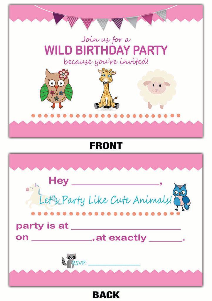 Invitation Card For Birthday Party For Girl Canvatemplete