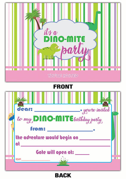 Creanoso Dinosaur Theme Birthday Invitation Cards 12 Pack Great Gi