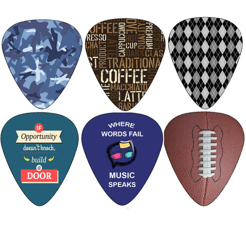 Hero Guitar Picks (12-Pack) - Medium Celluloid - Unique Music Gifts - Cool Picks Guitar Picks