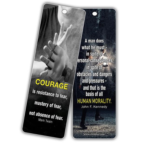 Creanoso Courage Character Bookmarks (12-Pack) – Inspiring Motivational Bookmarker Set