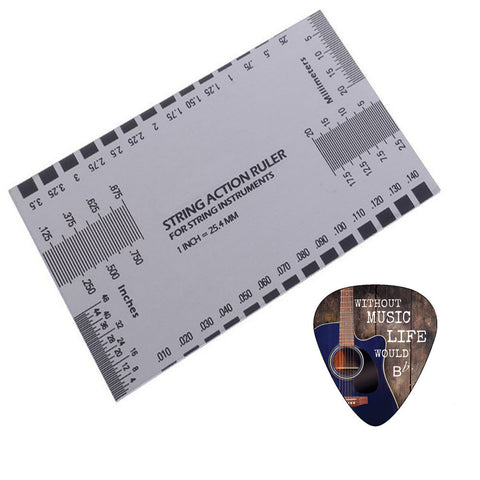 Creanoso Guitar String Action Ruler Gauge Tool - Accurate String Measurement - For Guitars