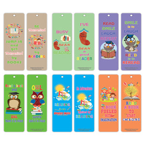 Creanoso Funny Reading Time Inspirational Bookmarks for Kids (60-Pack) – Good Reading Habits Inspiring Bookmarker Cards for Kid Boys Girls Teen – Classroom Home School Teacher Incentive Rewards