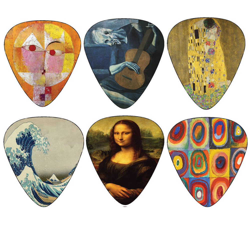 Creanoso Famous Guitar Picks - Best Cool Unique Guitar Gifts - Great Stocking Stuffers Gift Ideas