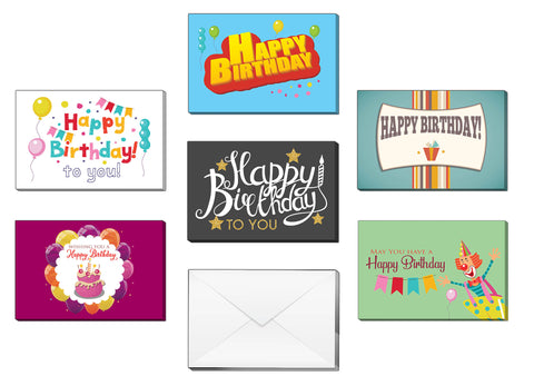 Creanoso Happy Birthday Greeting Cards - Premium Gift Card Set Tokens for Birthday Events