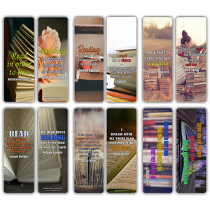Creanoso Inspiring Literary Quotations Bookmarks - Stocking Stuffers Gift for Men, Women
