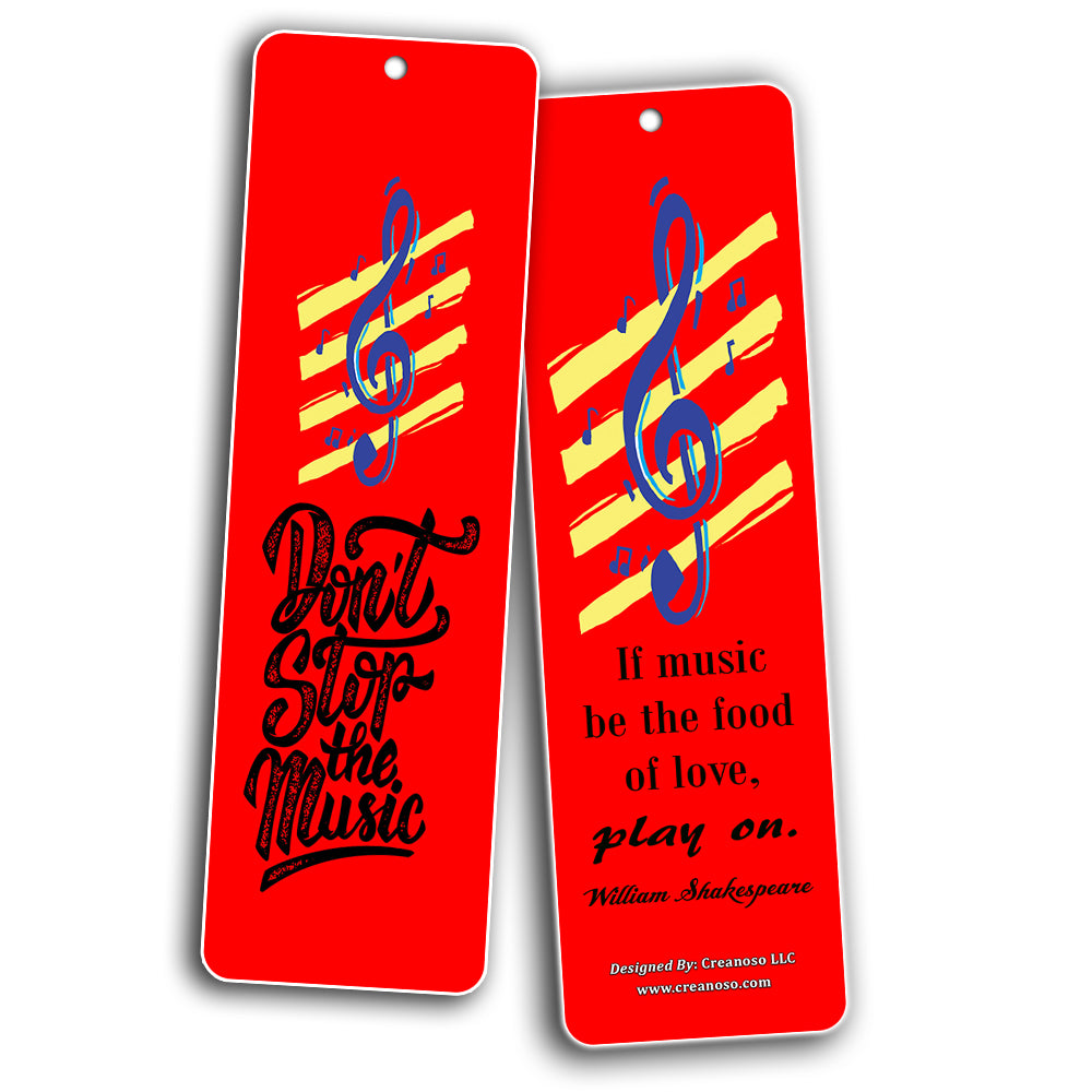 Creanoso Music Quotes Bookmarks Cards 60 Pack Inspirational Music G