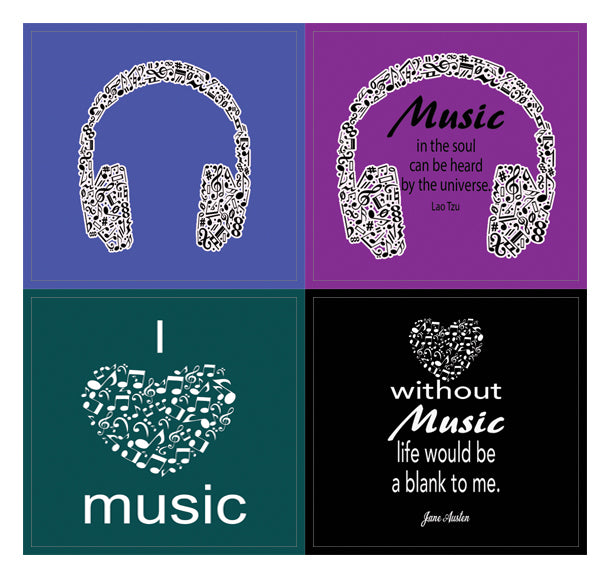 Creanoso Music Theme Inspirational Quotes Stickers - 10 Sheets – Inspiring  Musical Wall Art Decal