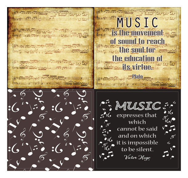 Creanoso Music Theme Inspirational Quotes Stickers - 10 Sheets – Inspi
