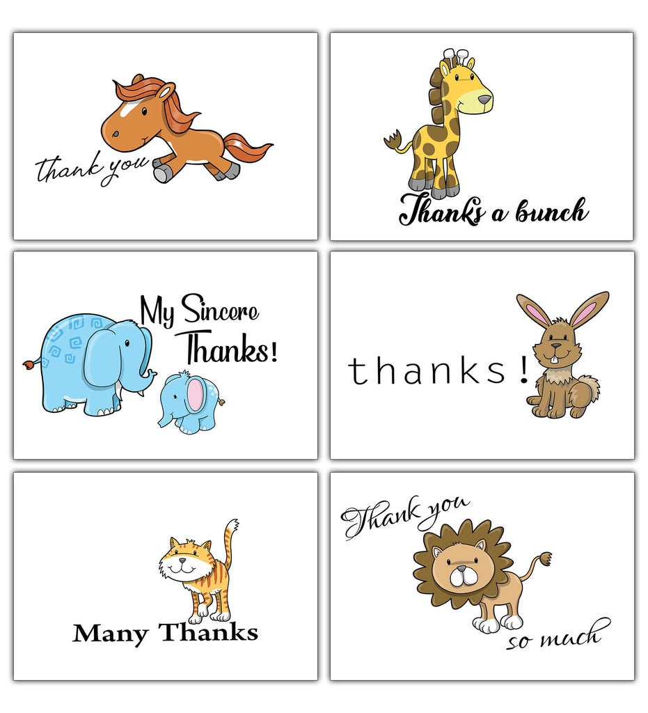 Creanoso assorted thank you cards pack 30 pack bulk cardstock cute creanoso assorted thank you cards pack 30 pack bulk cardstock cute animal reheart Images