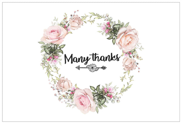 Creanoso Thank You Cards – Floral Theme Design (12-Pack) – Elegant Floral Design Thank You Cards