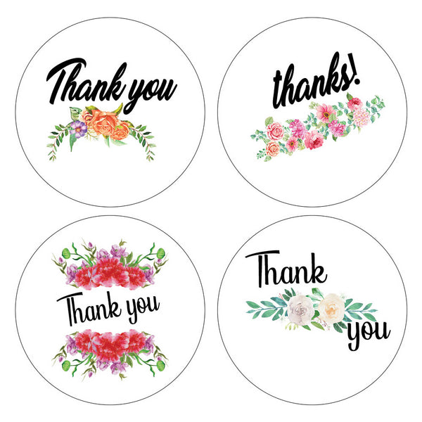 Creanoso Floral Thank You Stickers (10-Sheet) – Elegant Design Wall Stickies – Bulk Note Set