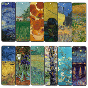 Creanoso Van Gogh Quotes Bookmarks  – Premium Gift Set – Inspiring Classical Art Sayings Set