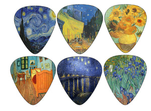 Vincent Van Gogh Guitar Picks - Celluloid Medium 12 Pack - Best Gifts for Guitarist, Musicians