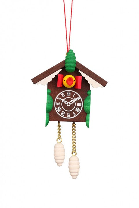 Cuckoo Clock - Snow capped Alpine Hut - Christmas tree decoration