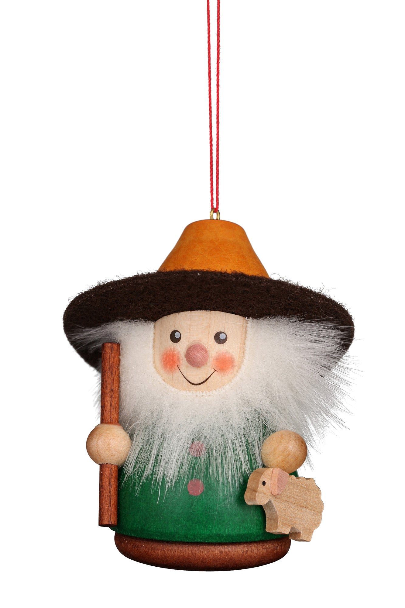 Little gnome Christmas tree decoration - Shepherd (Colourful)