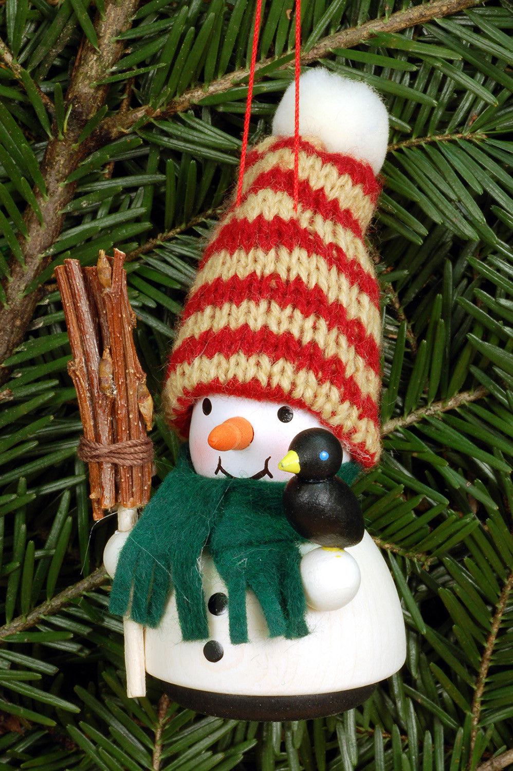 little gnome christmas tree decoration snowman