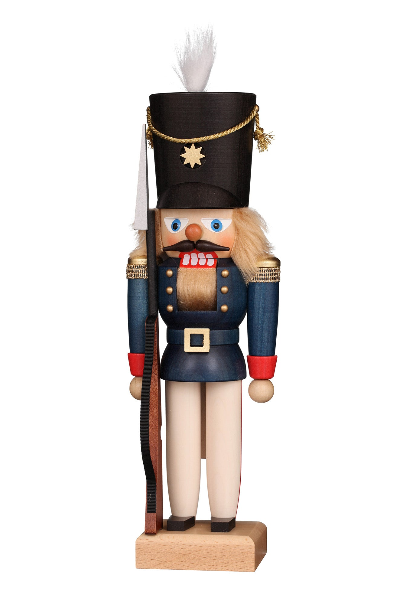 Nutcracker (Small) - Soldier with Blonde Hair and Blue Coat
