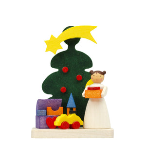Santa's little angel delivering toys - Christmas tree decorations