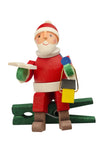 Clip-on Santa in his workshop - Set of 3 Christmas tree decorations
