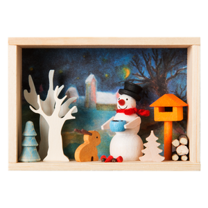 Congratulations box - Snowman Forest