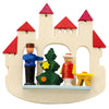 Fairytale Castle with Tree and Soldier (White) - Christmas tree decoration