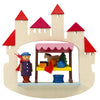 Fairytale Castle and Market stall (White) - Christmas tree decoration