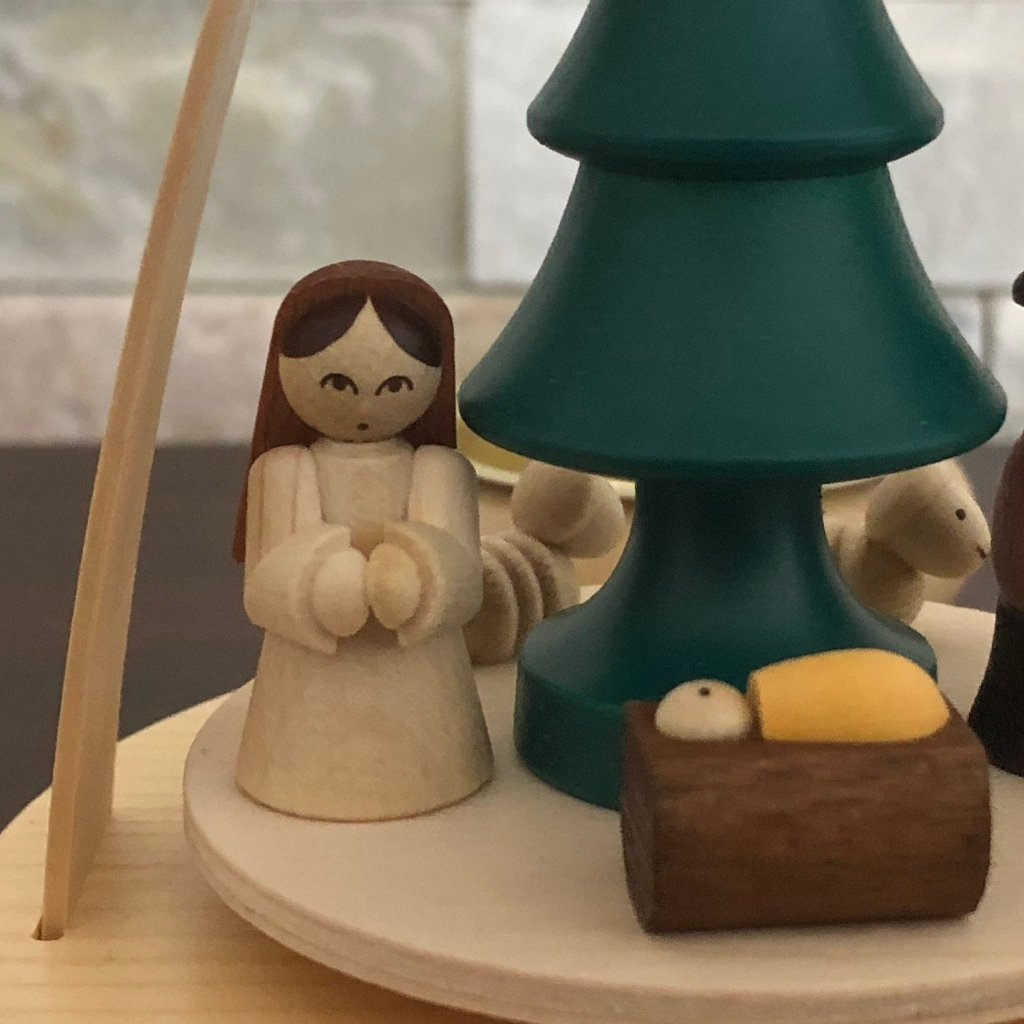 Christmas Pyramid (Medium)- Nativity (Colourful)