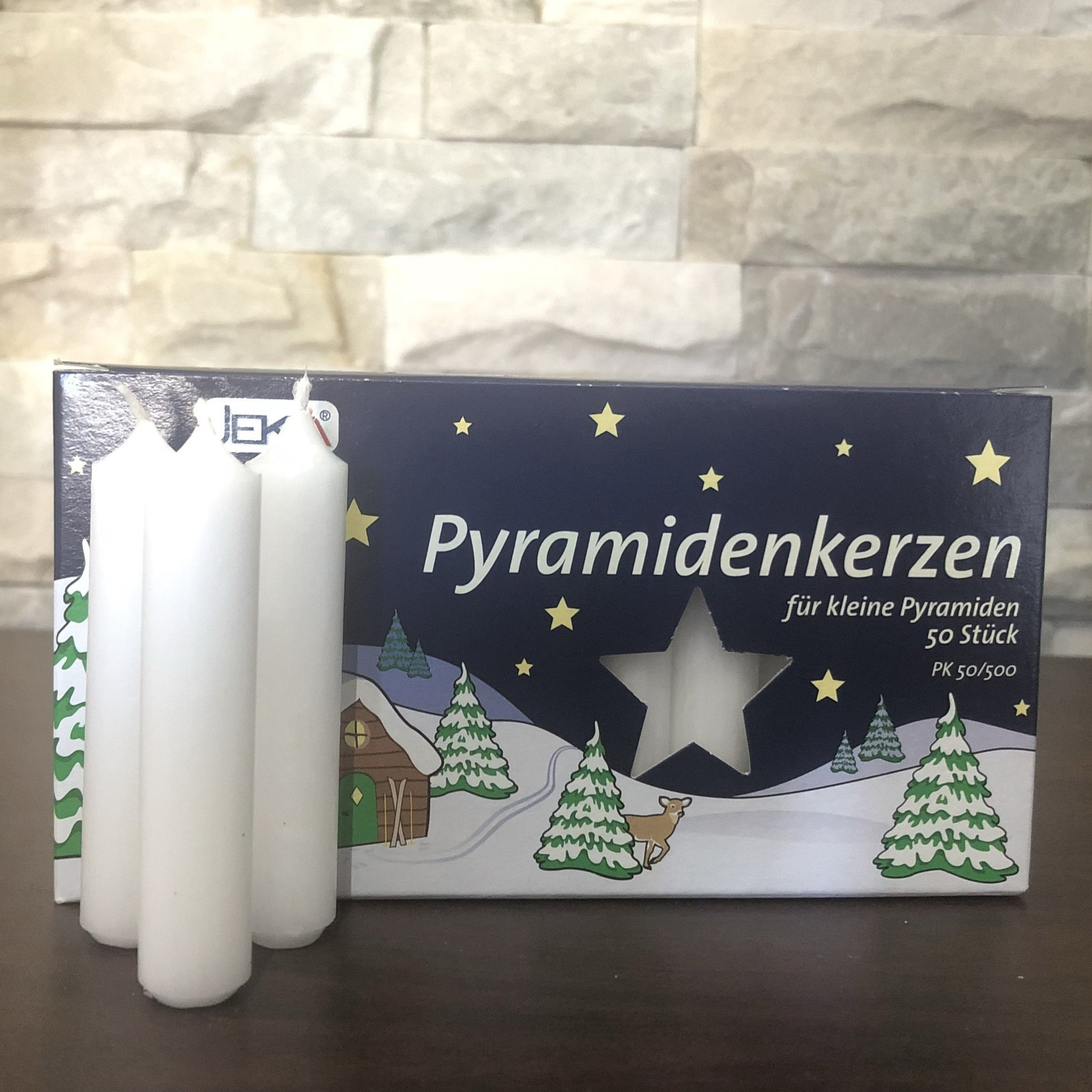 Pyramid Candle - White 14mm (Box of 50 Regular-size)