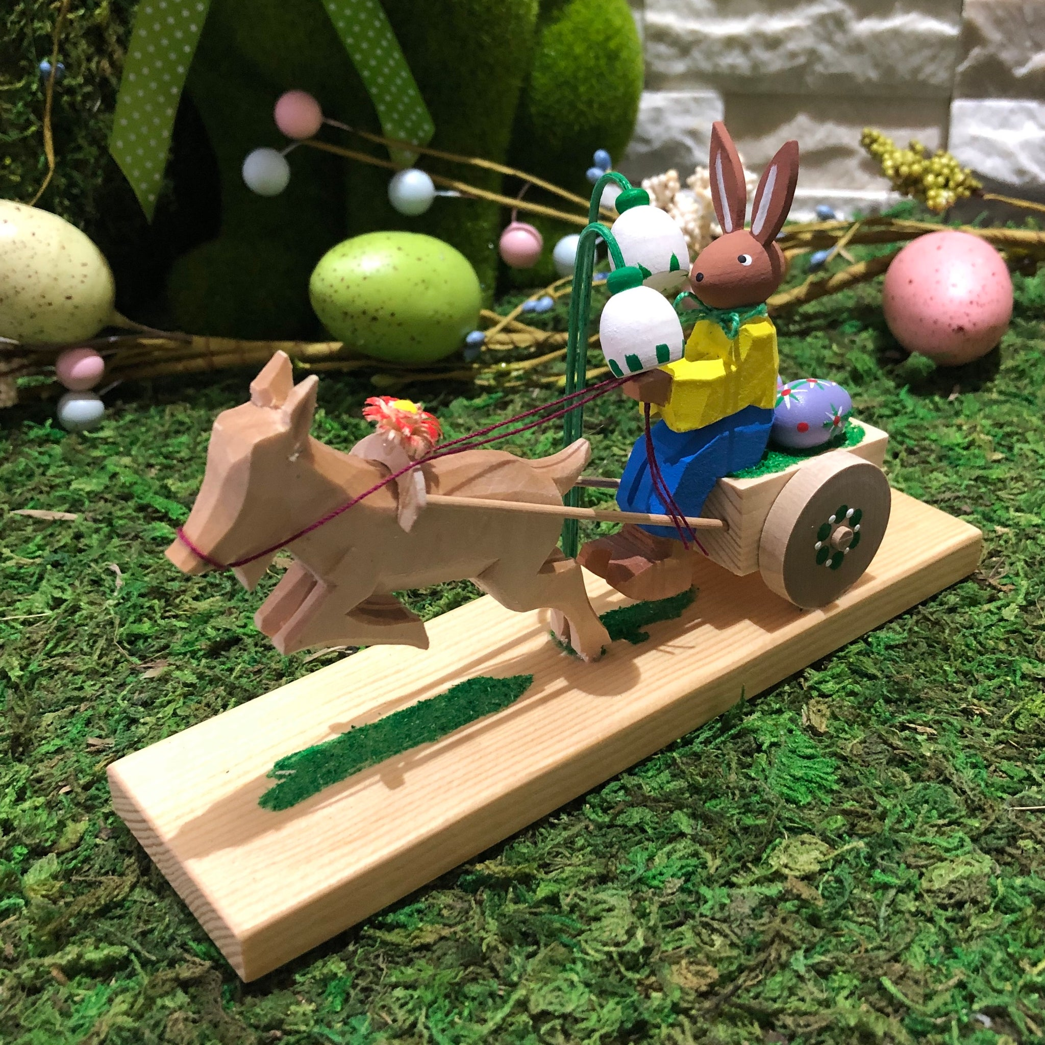 Bettina's Easter - Easter bunny on cart