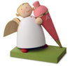 Little Angel Figurine - Guardian Angel at First Day of School (Pink)