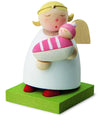 Little Angel Figurine - Guardian Angel with new Baby (Girl)