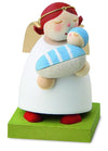 Little Angel Figurine - Guardian Angel with new Baby (Boy)