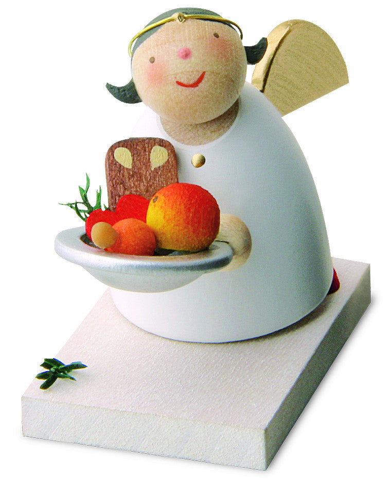 Christmas figurine - Angel with gingerbread
